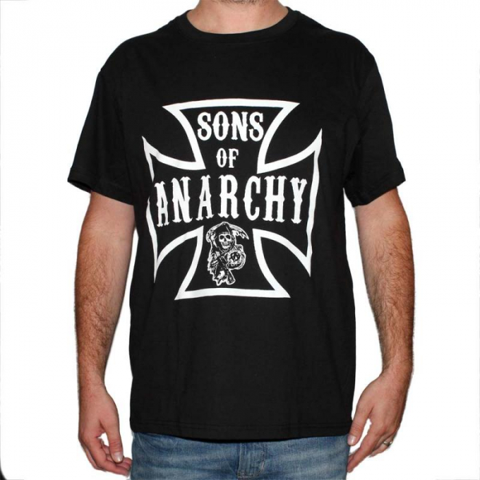 Tricou Sons Of Anarchy - Iron Cross - 180 grame 0