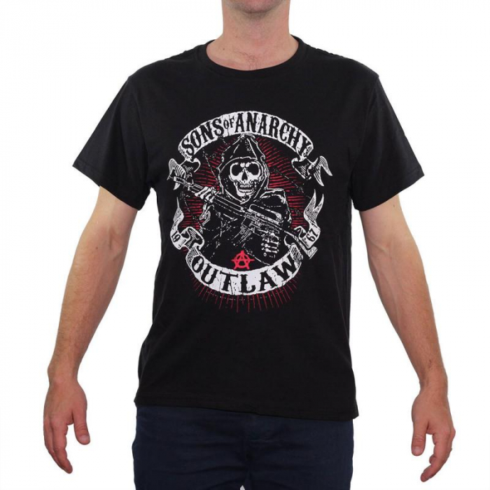 Tricou Sons of Anarchy - Outlaw - 180 grame 0