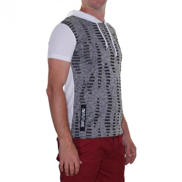 Tricou Streetwear 5M-2141 ALB 1