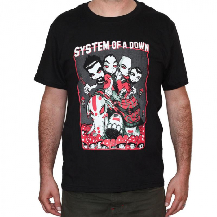Tricou System of a Down - Mushrooms - 180 grame 0