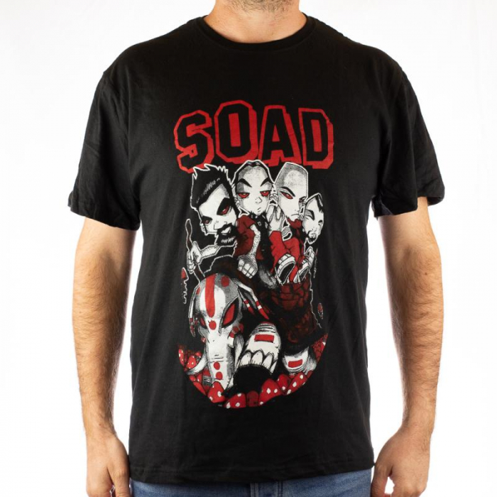 Tricou System of a Down - Mushrooms 2 marime - 145 grame 0