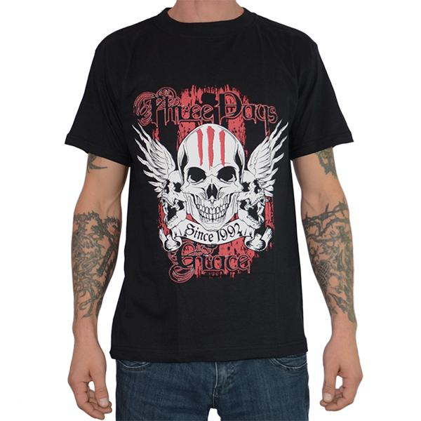 Tricou Three Days Grace - Skull - 180 grame 0