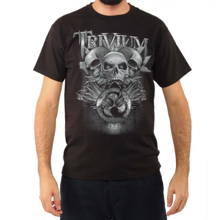 Tricou Trivium - Skulls - Fruit Of The Loom 0
