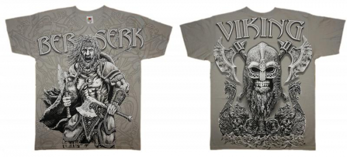 Tricou viking full printed - Berserk 2