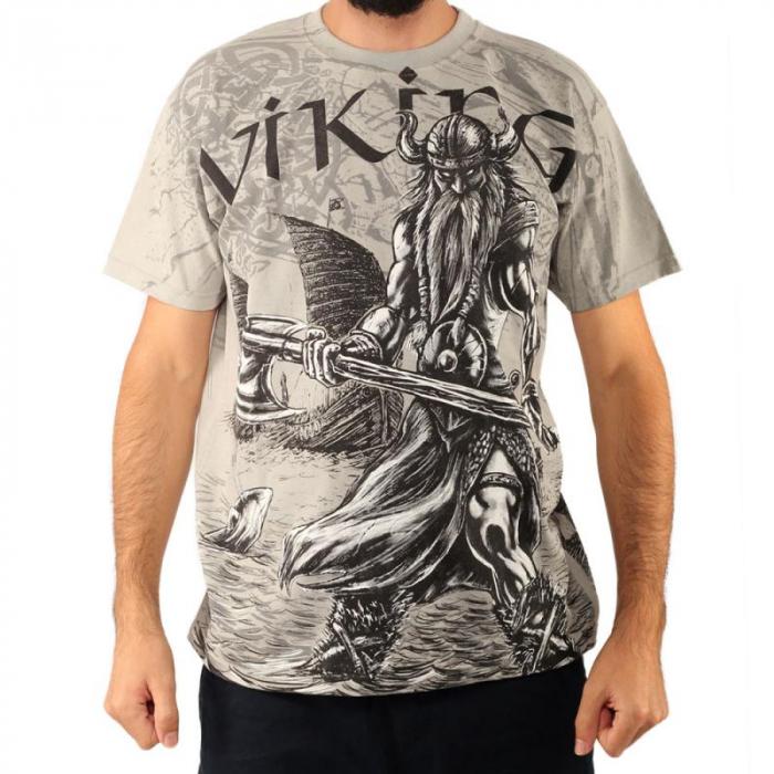 Tricou viking full printed - Valhalla 0