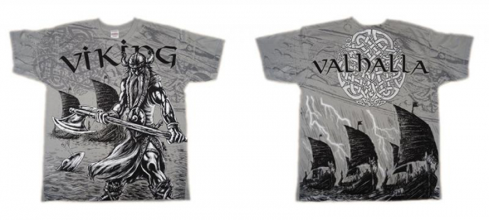Tricou viking full printed - Valhalla 2