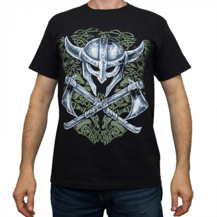 Tricou Viking - Helm & Axe - Fruit Of The Loom 0