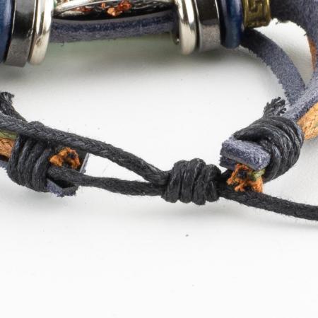 Bratara din piele cu snur - Copper Tree [2]