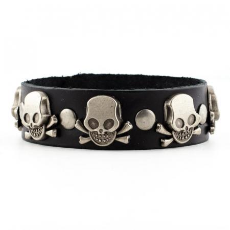 Bratara din piele - Skulls & bones [0]