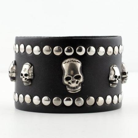 Bratara lata - Five skulls0