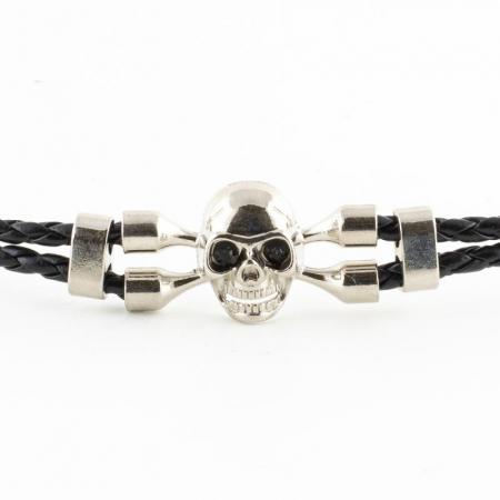 Bratara Metalica cu Impletituri - Skull1