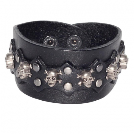 Bratara ovala cu ornament- Skull&Bones [0]
