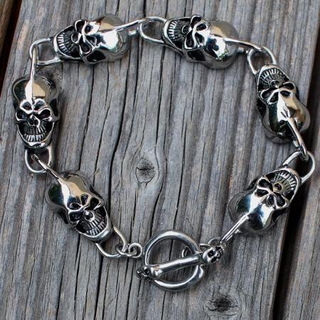 Bratara Stainless Steel - Skull1