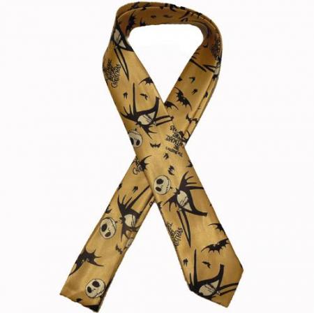 Cravata - Nightmare Before Christmas Gold Tie-0440
