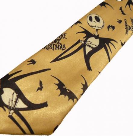Cravata - Nightmare Before Christmas Gold Tie-0441