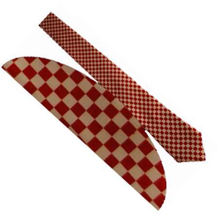 Cravata - Ska alb cu rosu0