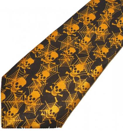 Cravata - skull and spiderweb Tie-040 [1]