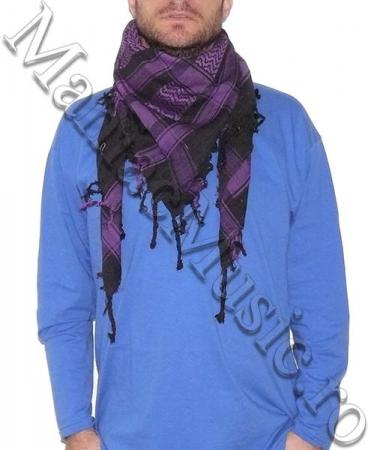 Esarfa Black Purple Skulls0