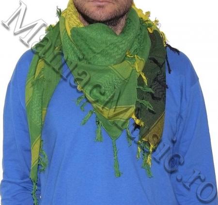 Esarfa Green Yellow Black1
