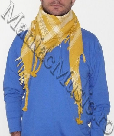 Esarfa Yellow White0