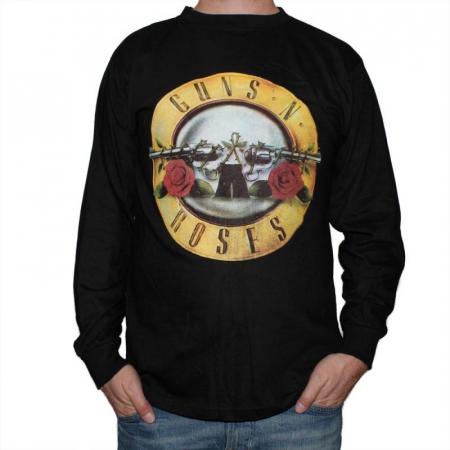 Long Sleeve Guns N Roses - Logo0