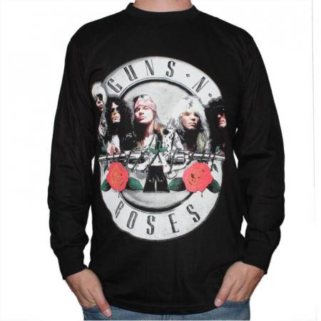 Long Sleeve Guns N Roses - Logo Band0