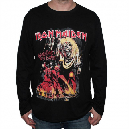 Long Sleeve Iron Maiden - The Number of the Beast0