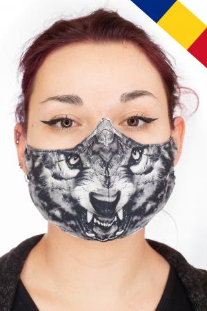 Masca bumbac cu filtru - Grey Wolf0