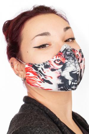 Masca bumbac cu filtru - Red Wolf1