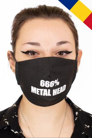Masca Rock print - 666% Metal Head0