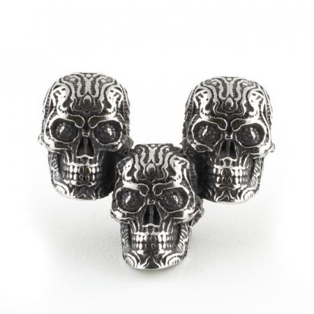 Medalion Stainless Steel - 3 Skulls simplu0