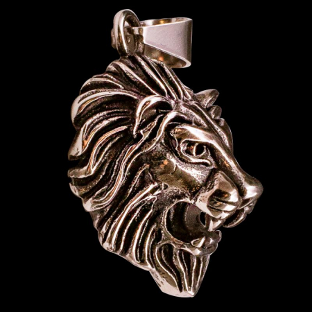 Medalion Stainless Steel - 3D Lion Head [0]
