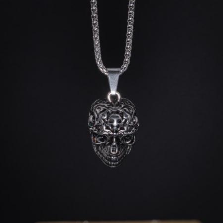 Medalion Stainless Steel - Alien Skull [3]