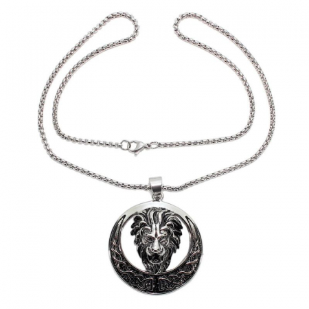 Medalion Stainless Steel - Celtic Lion1
