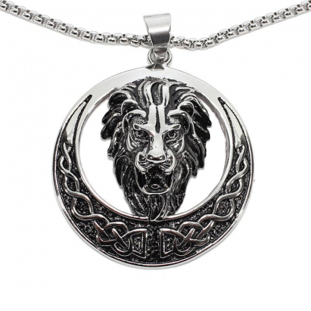 Medalion Stainless Steel - Celtic Lion0