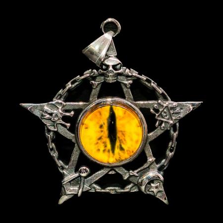 Medalion Stainless Steel - Eyepentagram [0]