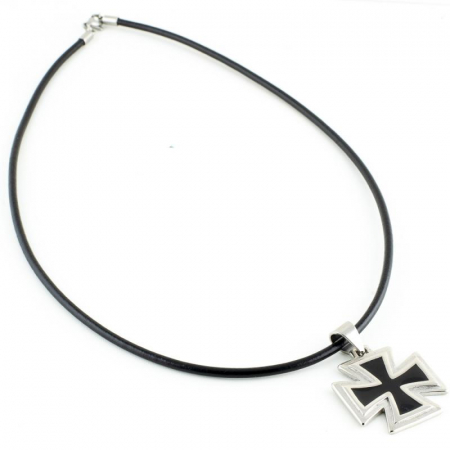 Medalion Stainless Steel - Iron Cross 2 cu snur1