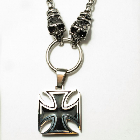 Medalion Stainless Steel - Iron Cross cu Lant0