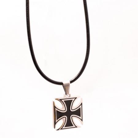 Medalion Stainless Steel - Iron Cross cu Snur [0]