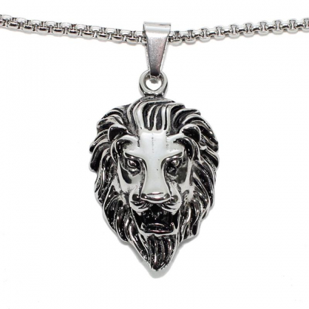 Medalion Stainless Steel - Lion0