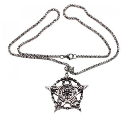 Medalion Stainless Steel - Pentagrama Masonica1