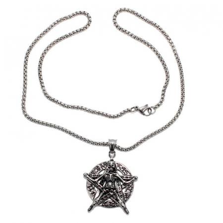 Medalion Stainless Steel - Petagrama Schelet1