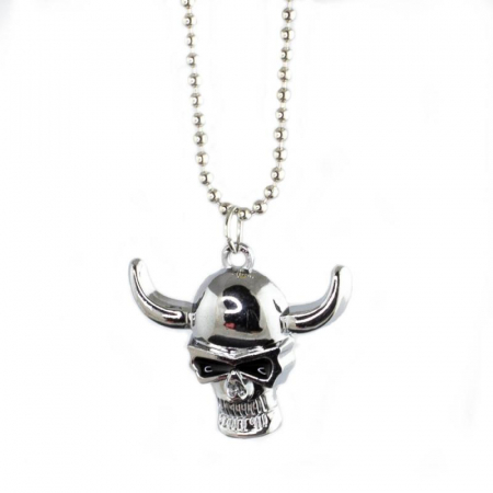 Medalion Stainless Steel - Silver Skull1