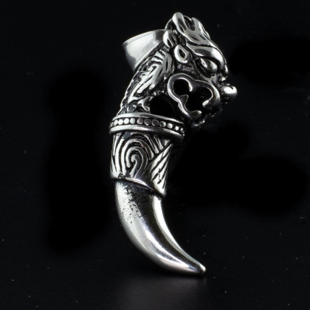 Medalion Stainless Steel - Wolf Fang [0]