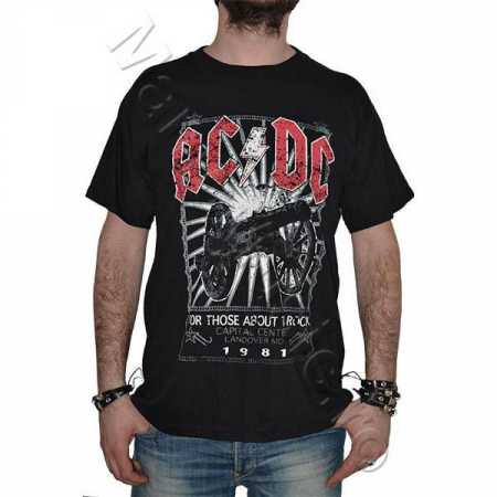 Tricou AC DC- For Those About Rock -1981 - 180 grame0