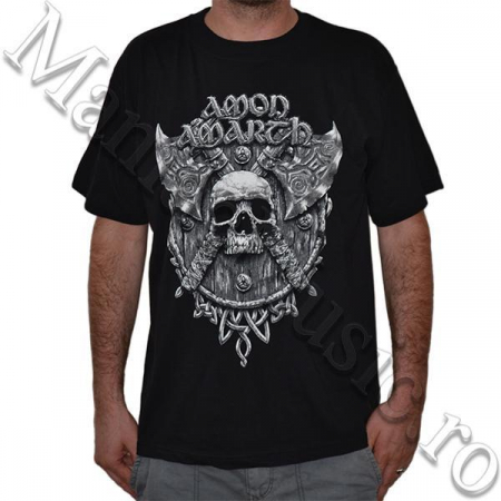 Tricou Amon Amarth - Skull and Axes - 180 grame0