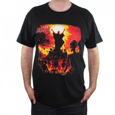Tricou Deicide - To Hell With Good 145 grame0