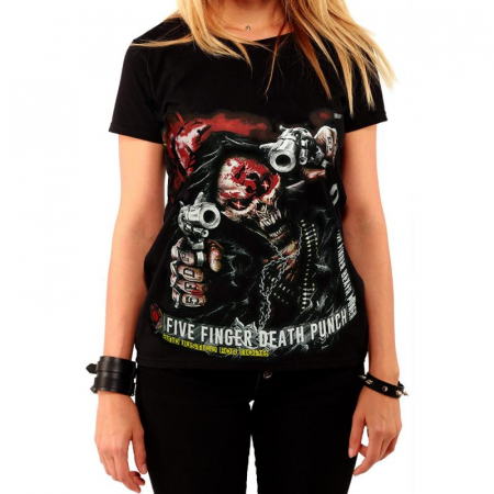 Tricou Femei Five Finger Death Punch - And Justice For None0