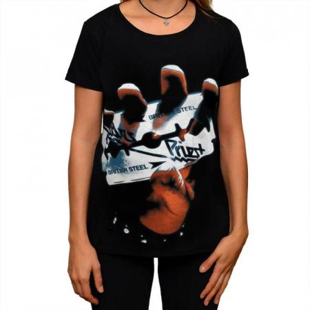 Tricou Femei Judas Priest - British Steel0