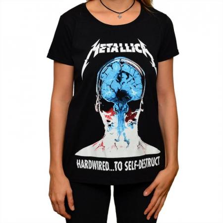 Tricou Femei Metallica - Hardwired...0